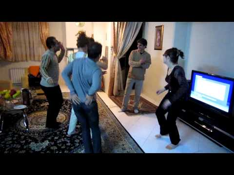 Iran English Woman  Attemps To Dance Irani Style Omg video