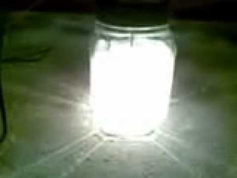 Electrolise da água natural com Plasma gerado a 260V & 0,4Amp