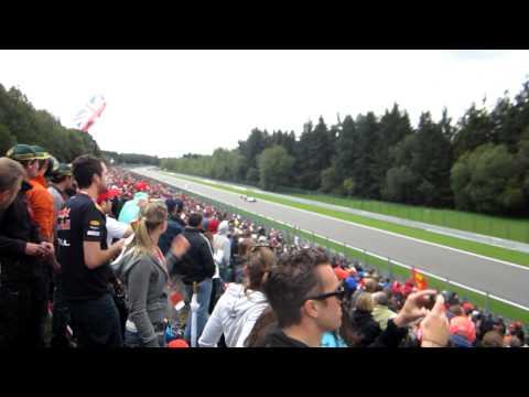 f1 spa francorchamps belgium lap 3 gp fernando alonso overtakes massa ferrari gp