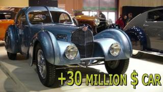 Most expensive car in the world? Bugatti Type 57SC Atlantic +30 million $ car !!!