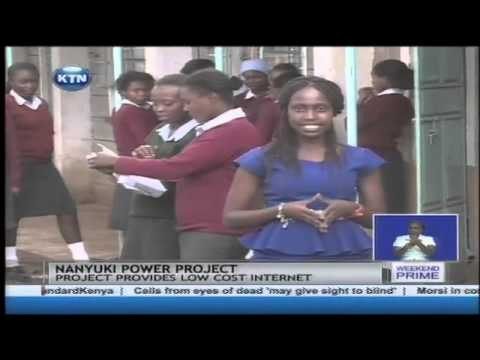 Nanyuki power project that provides low cost internet