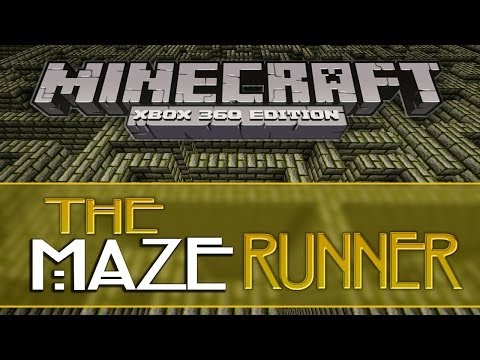 Minecraft Xbox 360: THE MAZE RUNNER [HUGE ADVENTURE MAP] w/Download