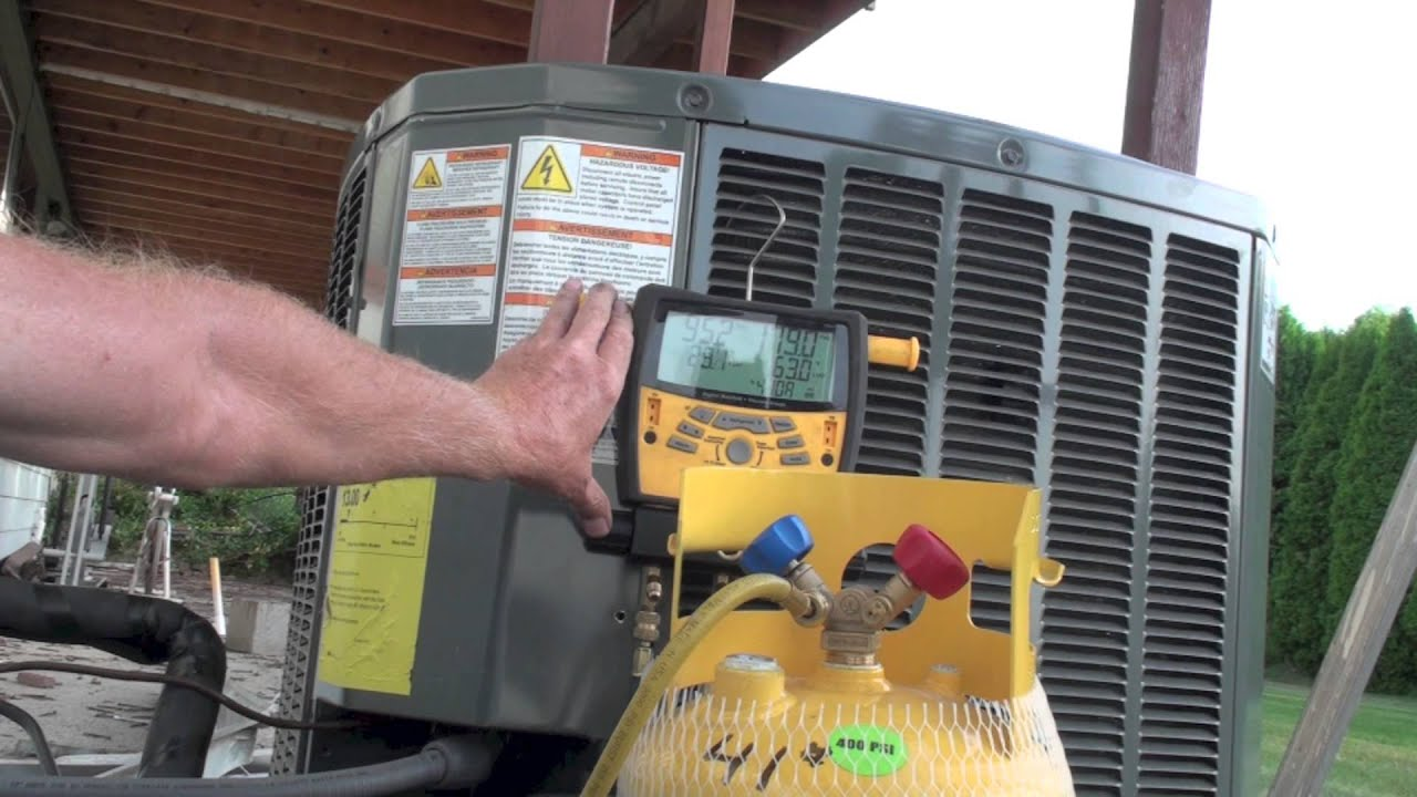Refrigerant Recovery Using The Compressor Youtube