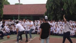 Reza Arap, Jovial, Tommy Lim tantang SMP 1 Depok