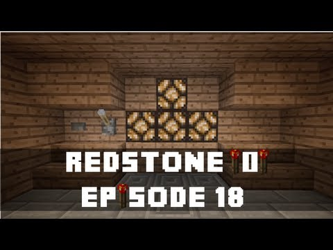 Minecraft Xbox 360 -  How to make a Retractable Redstone Lamp Hidden Chest (Redstone Tutorial)