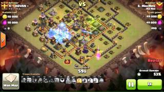 Clash of Clans GoHog clear Hall 10 max