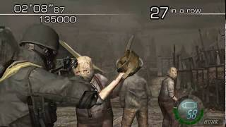 Resident Evil 4 - The Mercenaries (Welcome To Hell) Mode - Village - HUNK (699.000) HQ