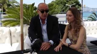 Valentina Nessi in conversation with Fawaz Gruosi of de GRISOGONO at Cannes Film Festival