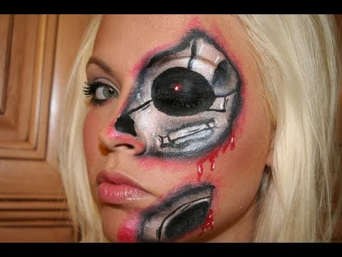 Cyborg Face Makeup Cyborg Face Painting Tutorial
