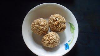 মজাদার মুড়ির মুয়া বা নারু how to make Murir Mua  Bangla Recipe by Food Bari
