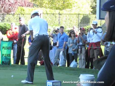 Tiger Woods 7th tee Chevron World Challenge 2010