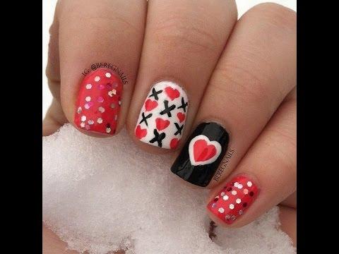 U as decoradas con corazones youtube - Unas decoradas con esmalte ...