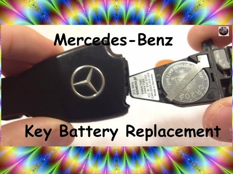 HOW TO change Mercedes Key Battery (Replace battery Benz KeyFOB keyless) BRC