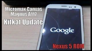 [ROM] Micromax Canvas Magnus A117 KitKat Update | Nexus 5 ROM