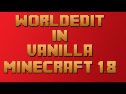 [Tutorial] WorldEdit in Vanilla Minecraft 1.8