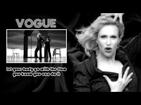 Glee - Vogue [Video + Lyrics on screen]