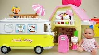 Hello Kitty Camping Car Baby doll picnic house and Doctor toys play