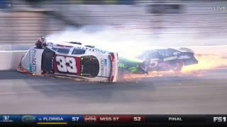 ARCA Racing Series 2017. Daytona International Speedway. Justin Fontaine Huge Crash Flip