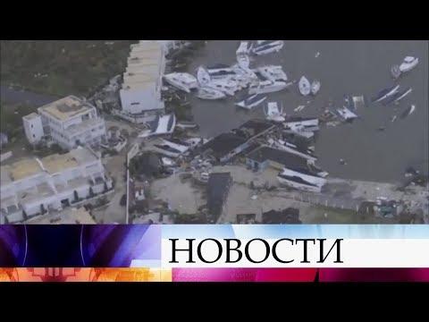 Мощный исамый продолжительный заисторию ураган «Ирма» практически разрушил острова Антигуа иБарбу
