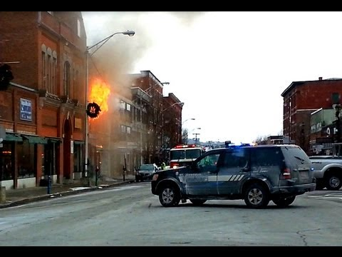 FIRE-Downtown St Johnsbury Vermont 12-23-12