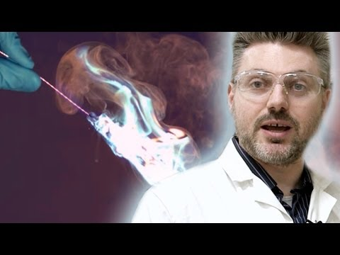 Blue Flame Thrower - Periodic Table Of Videos video