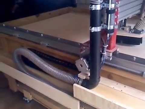 New Cable Chain/Vacuum setup for the X axis on my CNC Router