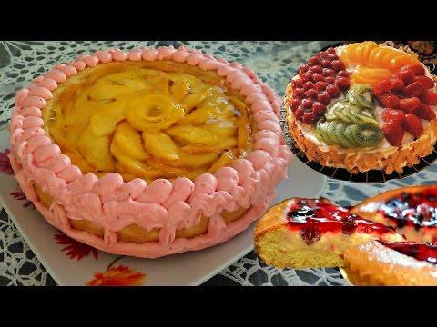 Корзинка бисквитная с фруктами.