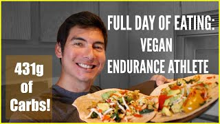 PRO RUNNER FULL DAY OF EATING: VEGAN ATHLETE DIET! (MACROS INCLUDED) Sage Canaday Plant Based
