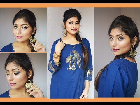 Durga Puja Navaratri Special Makeup Tutorial 2017/Bengali Durga Puja Traditional Festive Look