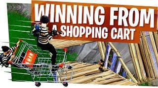 We WON from a Shopping Cart! - Fortnite Shopping Cart Impulse Win