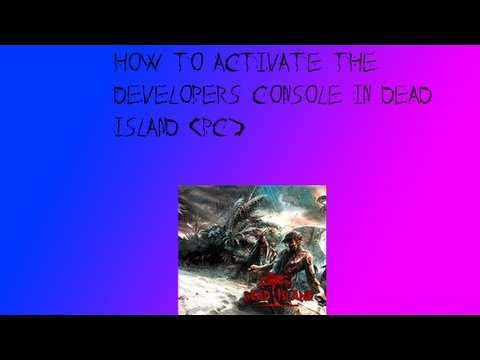 How to Activate the Developer's Console in Dead Island (PC)