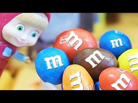 Маша и Медведь   Мультик с игрушками  Как Маша угощала свинку пеппу и её друзей