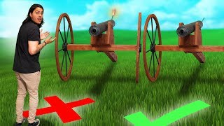 Don't Stand In Front Of The Wrong Cannon Challenge!