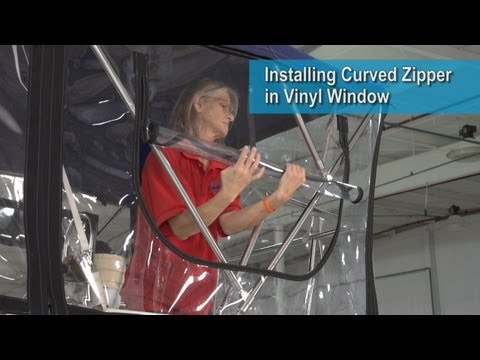 Installing Curved Zipper in Vinyl Window