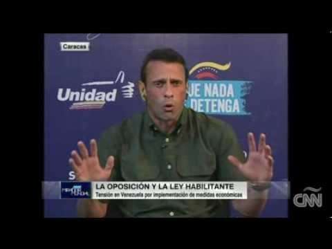 Henrique Capriles habla sobre la marcha contra el gobierno de Maduro
