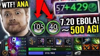 WTF 500 Agility SLARK NOT HUMAN NEW CANCER 7.20 META Epic Pro Gameplay by ANA Dota 2