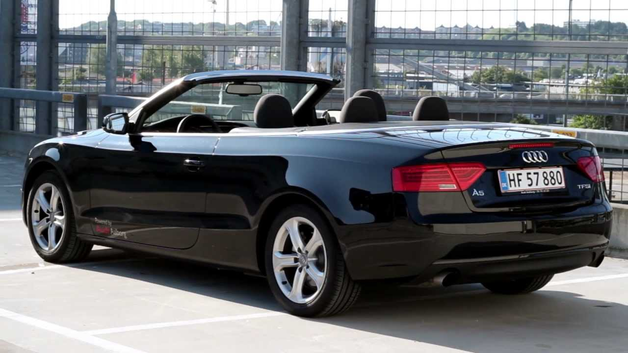 audi a5 cabriolet 2012 1 8 tfsi test youtube. Black Bedroom Furniture Sets. Home Design Ideas