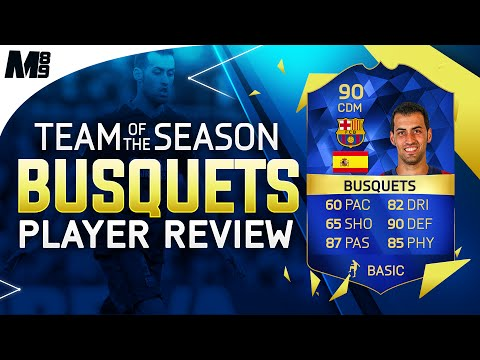 FIFA 16 TOTS BUSQUETS REVIEW (90) FIFA 16 Ultimate Team Player Review + In Game Stats