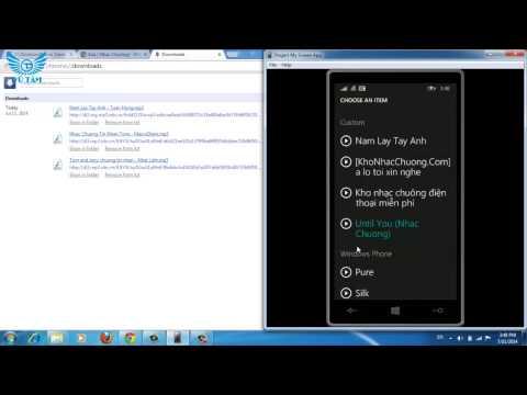 Hướng Dẫn Cài Nhạc Chuông, Tin Nhắn Windows Phone 8.1 video