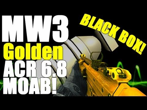 MW3: Golden ACR MOAB on Black Box!