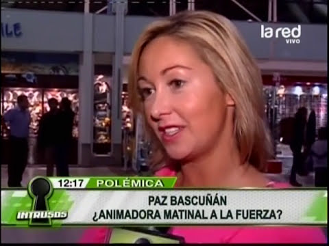 Paz Bascuñán, animadora a la fuerza