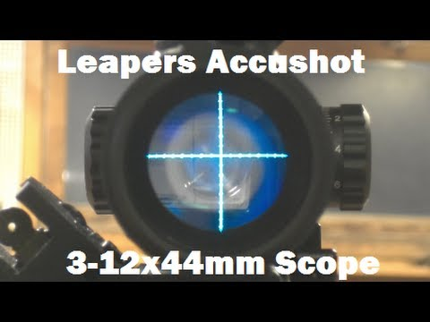 Leapers AccuShot 3 12x44mm Compact Illumination Enhancing Rifle Scope