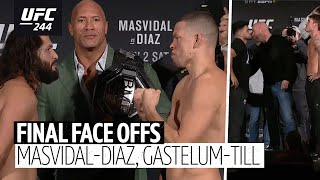 Every UFC 244 final face off with The Rock | Masvidal v Diaz, Gastelum v Till
