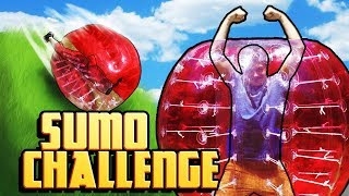GIANT BUBBLE SUMO CHALLENGE! (Real Life Challenges)