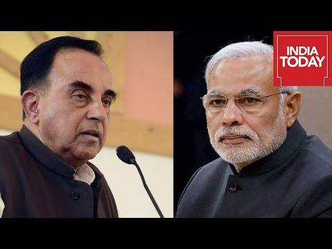 Modi Advises Subramanian Swamy On Agusta Debate in Rajya Sabha
