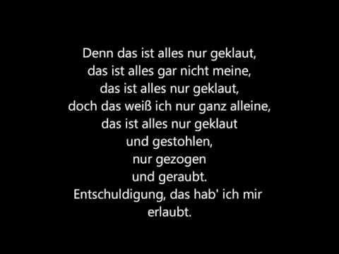 Die Prinzen - Alles nur geklaut - lyrics