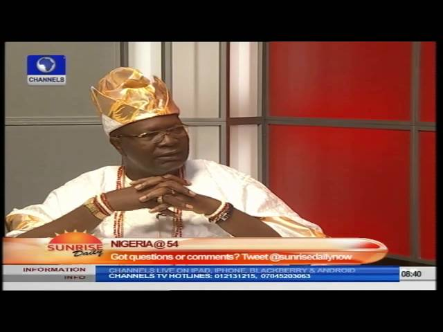 Nigerians Are Where They Deserve To Be – Oba Alatishe Pt.1