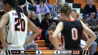 HAN Sports: Ridgefield at Stamford Girls Basketball 1.3.17