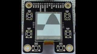 Sharp Memory LCD Breakout Board Demo with 96x96 Pixel Display