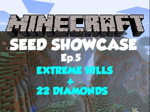 Minecraft 1.4.2 Seed Showcase Ep.5 - EXTREME HILLS + 22 DIAMONDS!